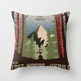 Legend of Zelda- Find Yourself in the Lost Woods Throw Pillow