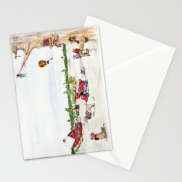 Elf child and friends Stationery Cards