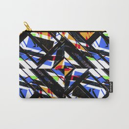 Multicolor Geometric Abstract Pattern Carry-All Pouch