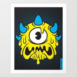 GLORB (YELLOW) Art Print