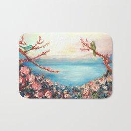 Magnolias - Geneva-Leman lake swiss Bath Mat