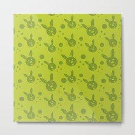 Easter Rabbit Easter Green Metal Print