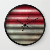 industrial Wall Clocks featuring 🔵 Industrial Wall by Tru Images Photo Art