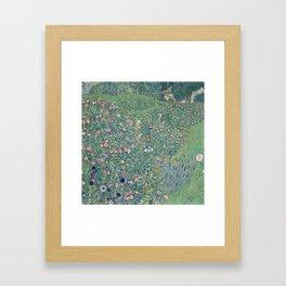 Italian Garden Landscape by Gustav Klimt Framed Art Print