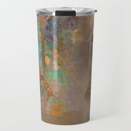 "Odilon Redon ""Woman in a gothic arcade - Woman with flowers"" Travel Mug"