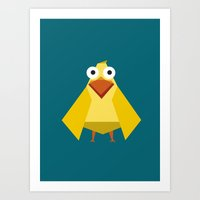 duck Art Prints featuring Duck by Fairytale ink