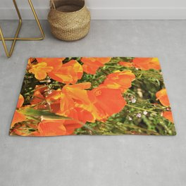 Orange Gold California Poppies by Reay of Light Rug