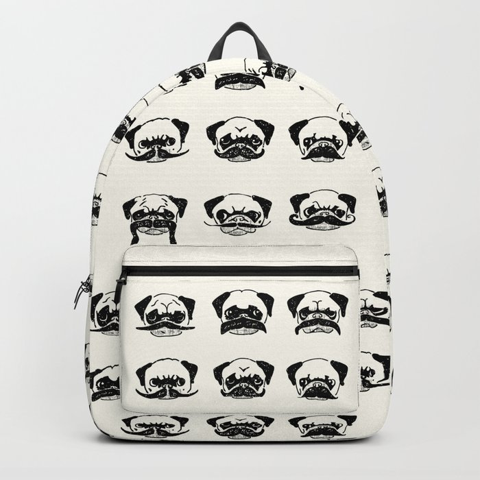 Moustaches of The Pug Backpack
