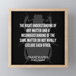 86   |  Franz Kafka Quotes | 190517 Framed Mini Art Print
