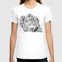 leopard T-shirts featuring Leopard  by Karen Hischak