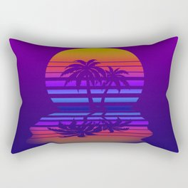 Synthwave Space #15: Twilight horizon (pixelart) Rectangular Pillow