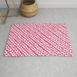 Knit Wave Raspberry Rug