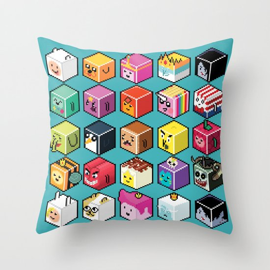 A.T. Cubies (40 CHARACTERS) Throw Pillow