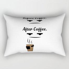 Before & after coffee Rectangular Pillow
