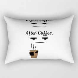 Before & after coffee Rectangular Pillow