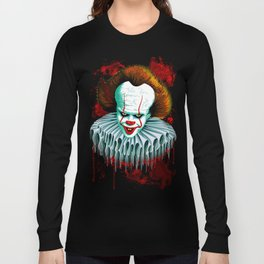 The Dancing Clown - Pennywise IT - Vector - Stephen King Character Long Sleeve T-shirt