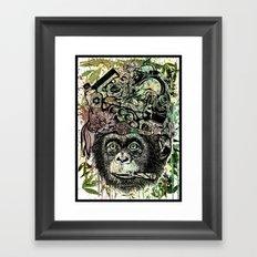 Ape's prank Framed Art Print