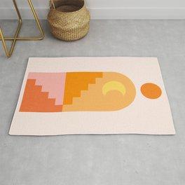 Abstraction_NEW_SUN_MOON_ARCHITECTURE_POP_ART_001AAA Rug