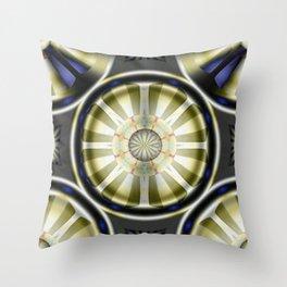 Pinwheel Hubcap in Sepia Throw Pillow