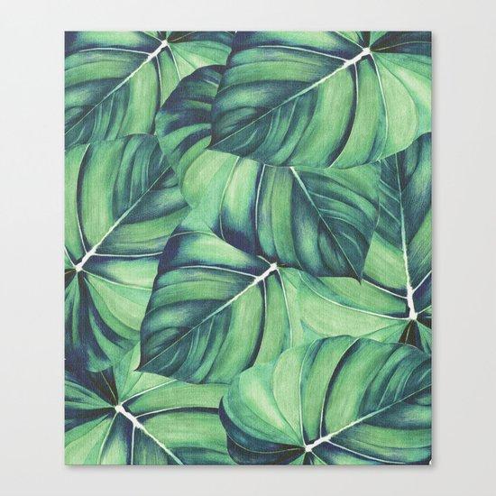 Palm Leaf Print Canvas Print