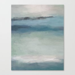 Abstract Painting, Light Blue, Teal, Sage Green Prints Modern Wall Art, Affordable Stylish Canvas Print
