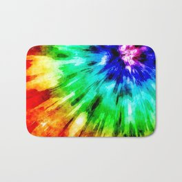 Tie Dye Meets Watercolor Bath Mat