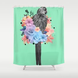 Floral Bird Shower Curtain