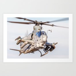 USMC Cobra Attack Helicopter Art Print