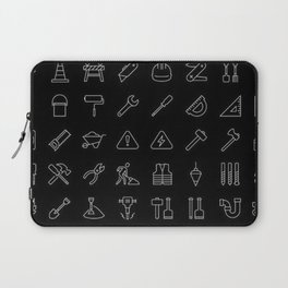 Tools Icons | Tool Shed | Carpenter | Dad Gifts Laptop Sleeve