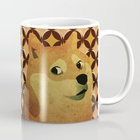 doge Mugs featuring So Doge.  Much art. Wow. by Sam Pickle