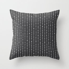 Lines, Dots and Circles - Hand Drawn Illustration, Abstract Pattern Throw Pillow