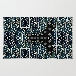Sacred Geometry for your daily life - DARKIE YOGA ROCKET Rug