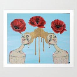 Poppies of Enlightenment Art Print