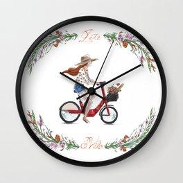 L'été à vélo Wall Clock