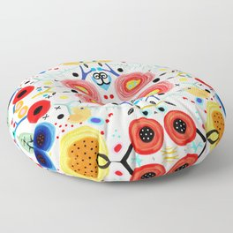 Amazing floral handmade drawing Floor Pillow