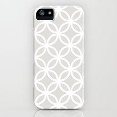 Gray Geometric Circles Slim Case iPhone (5, 5s)