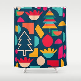 Funny Christmas games Shower Curtain