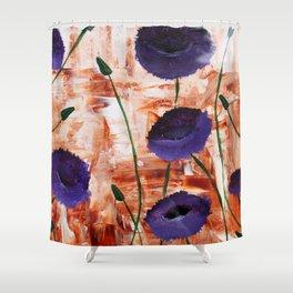 Purple Poppy Shower Curtain