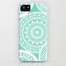 Mandala Marimekko Style Aqua  iPhone Case