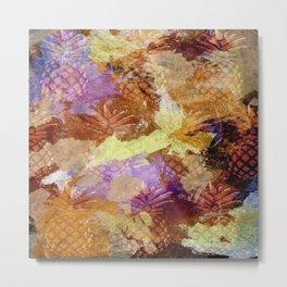 Abstract Pineapples Metal Print