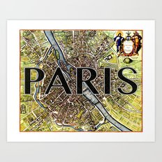 City of Paris Circa 1650 Art Print