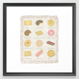 BISCUITS  Framed Art Print