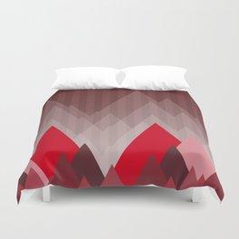 Triangular Mountain Range Duvet Cover