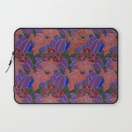 Blue Lilies and Orchids Laptop Sleeve