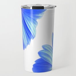 Blue Gerbera Flowers Travel Mug