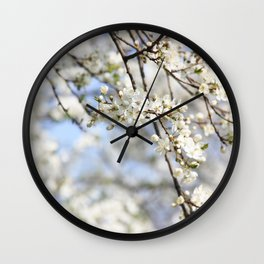 White lilac bloom Wall Clock