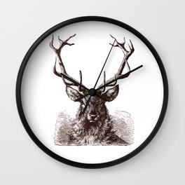 Mature Antlers (no caption!) Wall Clock