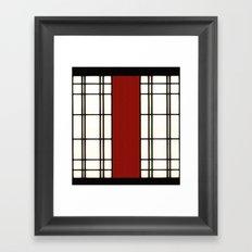 Shoji - red Framed Art Print