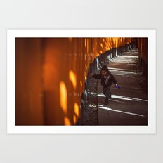 Hide and Seek in Fushimi Shrine Art Print