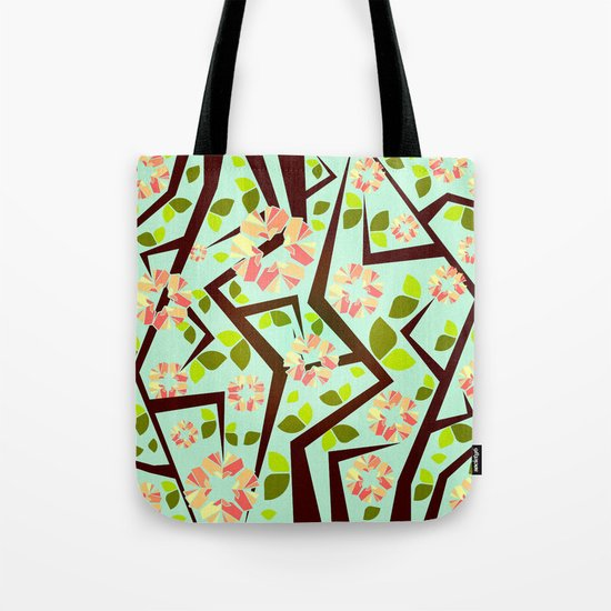 Blooming Trees Pattern III Tote Bag